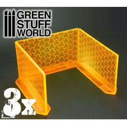 3x Muros de Energía Grande - Naranja Fluorescente