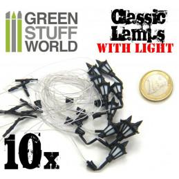 10x Lampadaires classiques de MUR avec LED