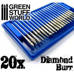 Diamantbohrer-Set mit 20 Spitzen
