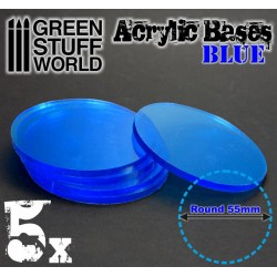 Acrylic Bases - Round 55 mm CLEAR BLUE