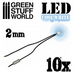 Cool White LED Lights - 2mm