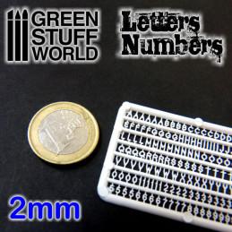 Buchstaben und Zahlen 2 mm