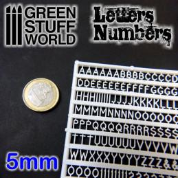 Letras y números 5 mm