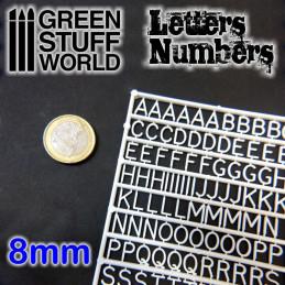 Lettres et nombres 8 mm
