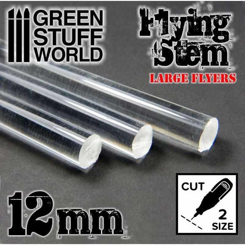 Barras Acrilicas - Redondas 12 mm TRANSPARENTES