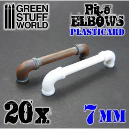 Plasticard Pipe ELBOWS 7mm