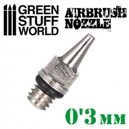 BUSE 0.3mm à Visser pour Aérographe