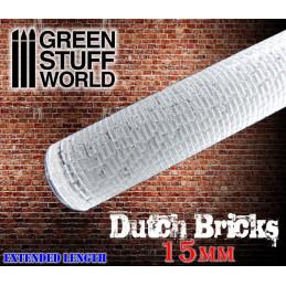 Rouleaux texturés - BRIQUES hollandaise 15mm