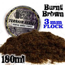 Elektrostatisches Gras 3 mm - Verbrannt Braun - 180ml