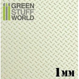 Plaque de Plasticard texturé DIAMANT 1mm