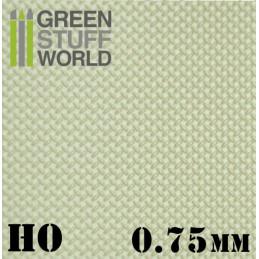 ABS Plasticard - Thread DIAMOND HO 0.75mm Textured Sheet