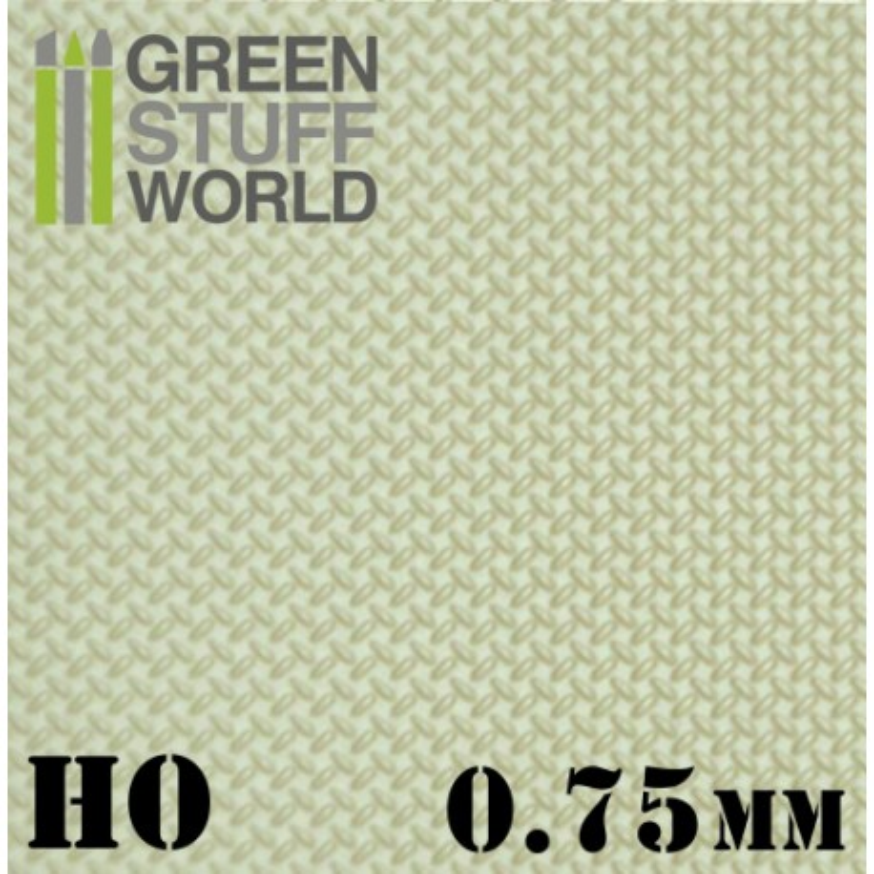 Plancha Plasticard DIAMANTE HO 0.75mm - tamaño A4