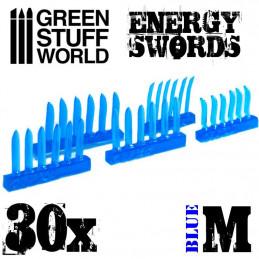 BLAUE Energie Schwerter - Größe M