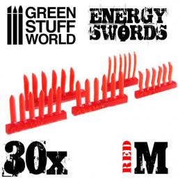Épées ROUGES d'énergie - Taille M