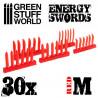 ROTE Energie Schwerter - Größe M
