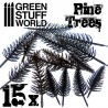15x flexible Kunststoff-Kiefern bäume