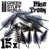 15x Model PINE Tree Trunks