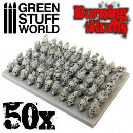 50x brennende Totenschädel
