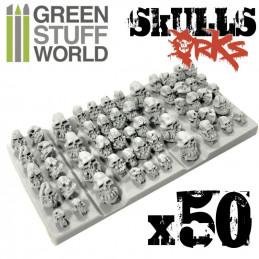 50x Craneos de ORCO de Resina