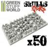 50x Resin ORK Skulls