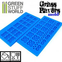 Silikon Texturplatten - Rasengitterstein