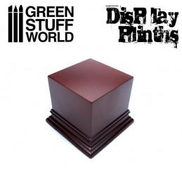 Square Top Display Plinth 6x6 cm - Hazelnut Brown
