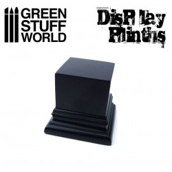 Square Top Display Plinth 4x4 cm - Black