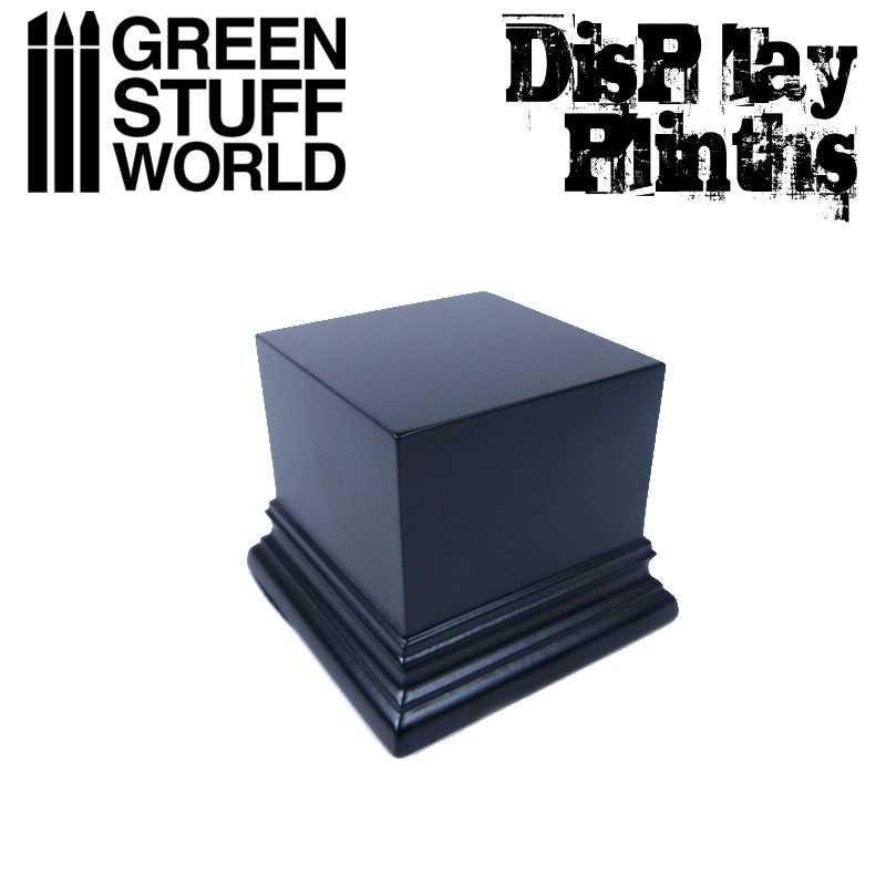 Square Top Display Plinth 6x6 cm - Black