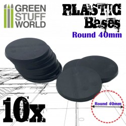 Plastic Bases - Round 40 mm BLACK