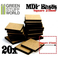MDF Bases - Square 25mm