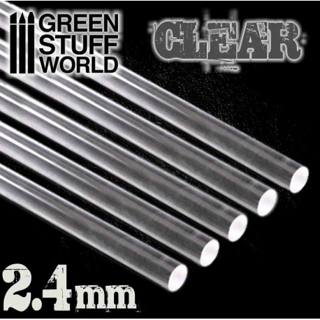 Acrylic Rods - Round 2.4 mm CLEAR
