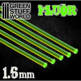 Acrylic Rods - Round 1.6 mm Fluor GREEN