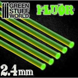 Acrylic Rods - Round 2.4 mm Fluor GREEN