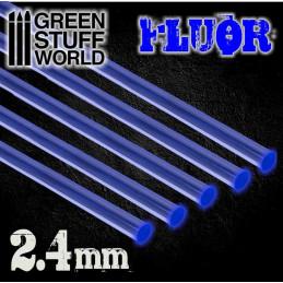 Acrylic Rods - Round 2.4 mm Fluor BLUE