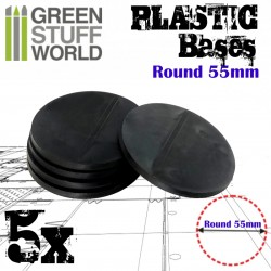 Plastic Bases - Round 55 mm BLACK