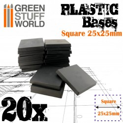 Plastic Square Bases 25x25 mm