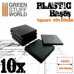 Plastic Square Bases 40x40 mm