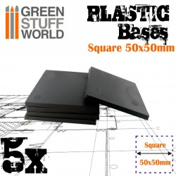 Plastic Square Bases 50x50 mm