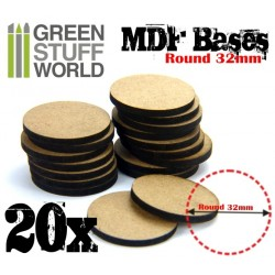 MDF Bases - Round 32mm