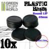 Plastic Bases - Round Lip 40mm