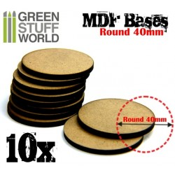 MDF Bases - Round 40mm