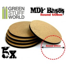 MDF Bases - Round 60mm