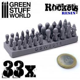 33x Roquettes et Missiles en Résine
