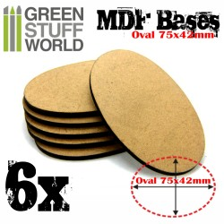 MDF Bases - AOS Oval 75x42mm