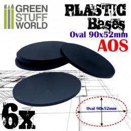 Socles Plastiques Ovale 90x52mm AOS