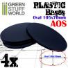 Socles Plastiques Ovale 105x70mm AOS