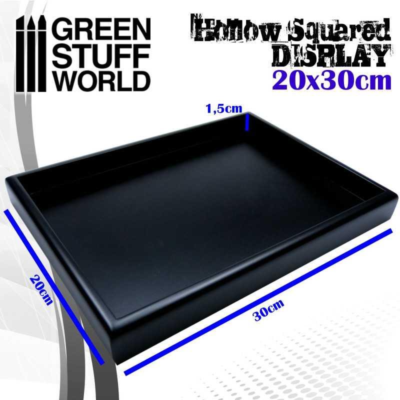 Hollow squared display 20x30 cm Black