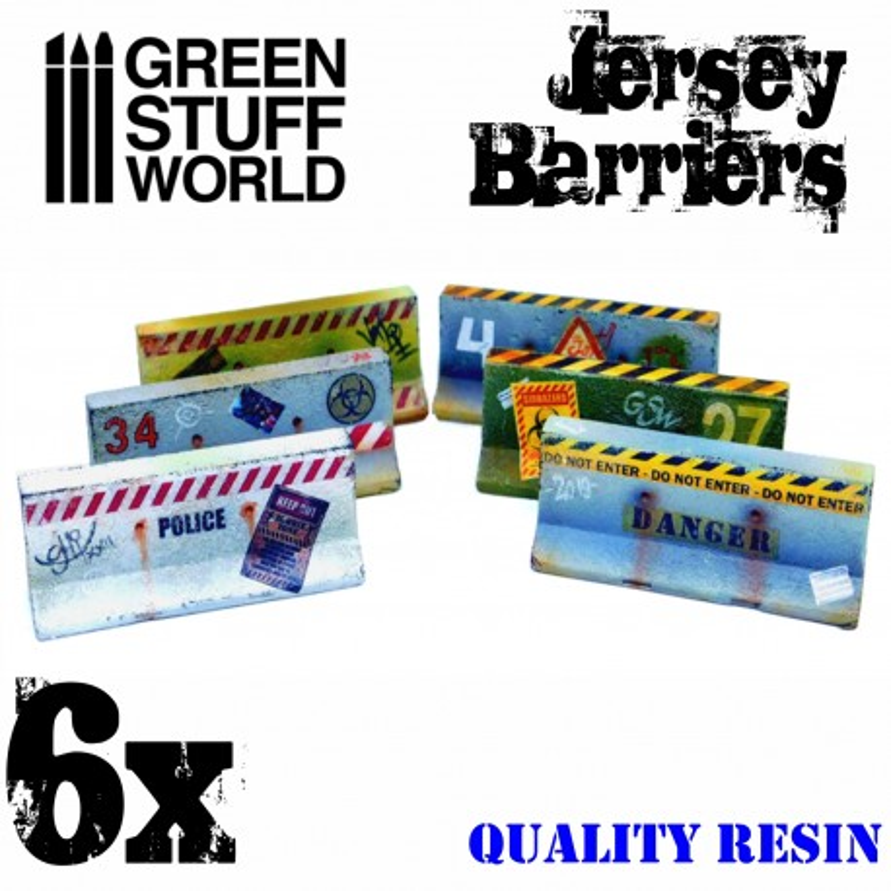 6x Jersey Barriers