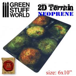 Set de Terrain Neoprene 2D - Forêt avec 6 arbres