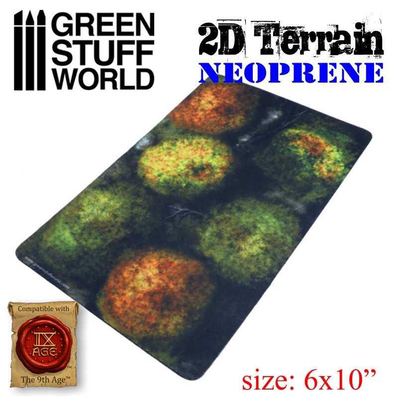 Set Escenografia Neopreno - Bosque con 6 arboles